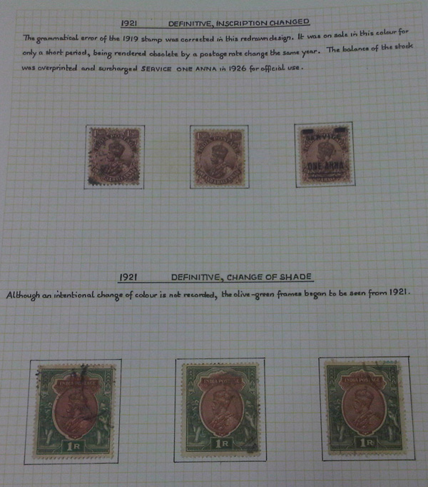 Definitives, Inscription changed