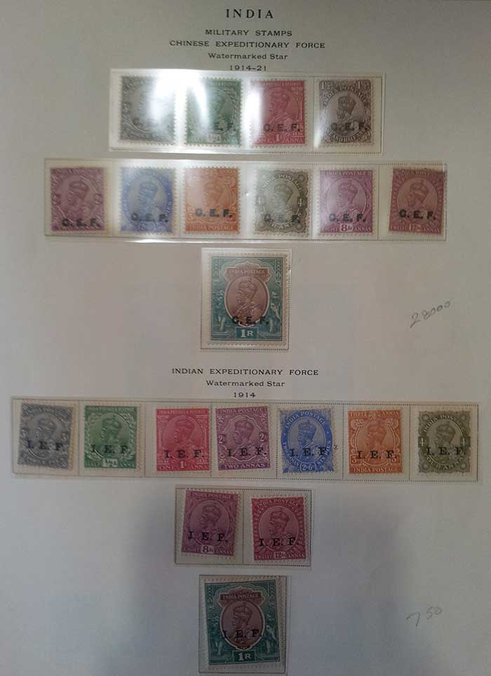 Indian Stamp Issued the East India Company Collection